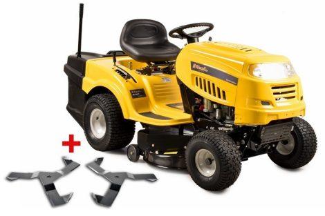 Benzinmotoros Fűnyíró Traktor, 439 cm3, 14,5 LE, fűgyűjtővel, 6-fokozatú Transmatic váltóval + speciális késekkel, Riwall PRO RLT 92 T POWER KIT