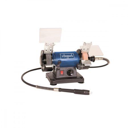 Elektromos Asztali Kettős Köszörű polírozó flexidrive rendszerrel, 120 W, Scheppach HG 34