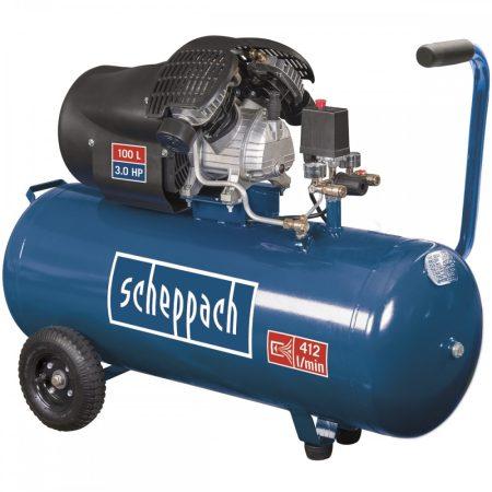 Olajkenésű Kompresszor, kéthengeres, 100 l, 2200W, Scheppach HC 120 DC
