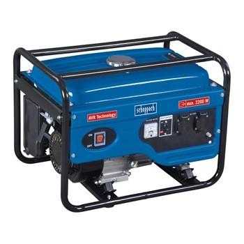 Benzinmotoros Áramfejlesztő, Aggregátor, AVR szabályozással, 2200 W, Scheppach SG 2600