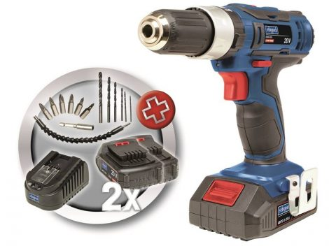 Akkumulátoros 2-sebességes Ütvecsavarozó / -fúró, 20 V, 1,5 Ah, Scheppach CID30-20Li