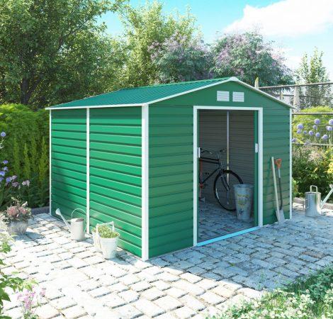 Kerti ház, Szerszámtároló, 277 x 255  cm, acéllemez, GAH 706 zöld