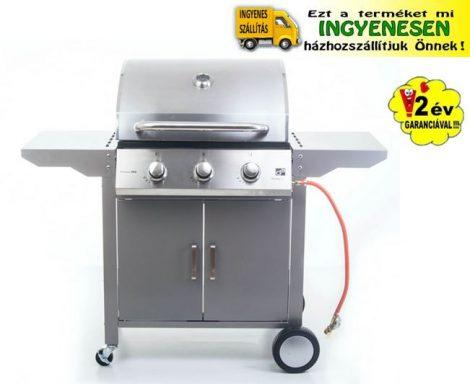Oklahoma BBQ Premium line gázgrill, kerti grill, 3 égőfejes
