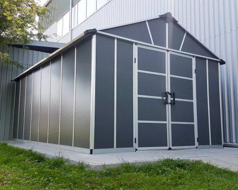 Kerti ház, Szerszámtároló, 520 x 332 cm, polikarbonát, Palram Yukon 11x17,2 antracit, 15 év GARANCIA!