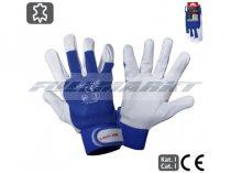 Munkavédelmi Kesztyű/Védőkesztyű, kecskebőr, BLUE, LAHTI PRO
