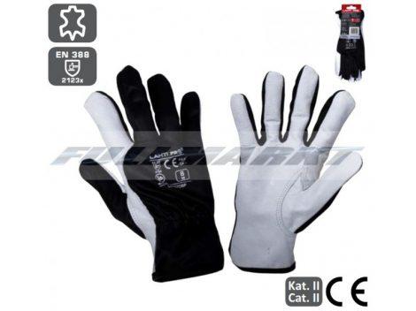 Munkavédelmi Kesztyű/Védőkesztyű, kecskebőr, BLACK, LAHTI PRO