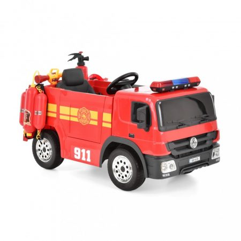 Elektromos, Akkumulátoros Tűzoltóautó Gyerekeknek, kiegészítőkkel, HECHT 51818