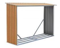 Tüzifa tároló, 242 x 150 x 75 cm, WOH 181 barna