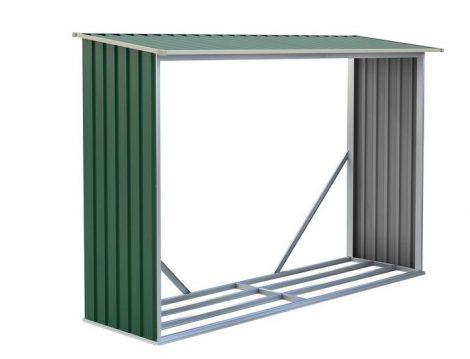 Tüzifa tároló, 242 x 150 x 75 cm, WOH 181 zöld