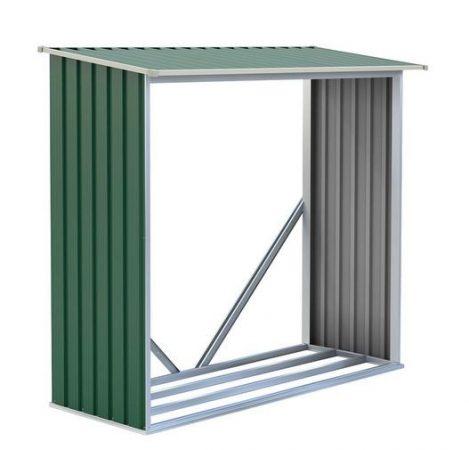 Tüzifa tároló, 182 x 150 x 75 cm, WOH 136 zöld