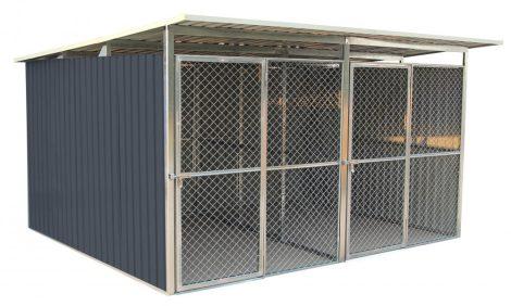 Kutyaketrec, Kutyakennel 322 x 275 cm, két férőhelyes, szürke, G21 KEN 886