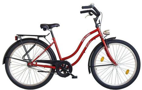 """26""""CRUISER túra női kerékpár, bordó, KOLIKEN"""